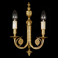 French Gilt Bronze Pair Wall Lights | Westland London