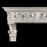 Palazzo Statuary Marble Fireplace Mantel | Westland Antiques